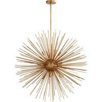 Quorum 600-10-74 Electra 10 Light 35 inch Gold Leaf Pendant Ceiling Light