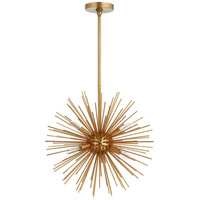 Quorum 600-6-74 Electra 6 Light 23 inch Gold Leaf Pendant Ceiling Light