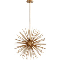 Quorum 600-8-74 Electra 8 Light 23 inch Gold Leaf Pendant Ceiling Light