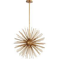 Quorum 600-8-74 Electra 8 Light 23 inch Gold Leaf Pendant Ceiling Light