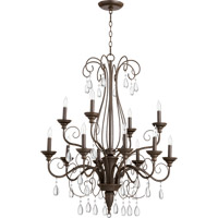 Quorum International Vesta 12 Light Chandelier in Oiled Bronze 6001-12-86