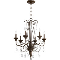 Vesta 6 Light 24 inch Oiled Bronze Chandelier Ceiling Light