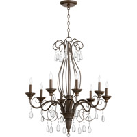 Quorum International Vesta 8 Light Chandelier in Oiled Bronze 6001-8-86