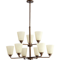 Quorum International Friedman 9 Light Chandelier in Oiled Bronze 6002-9-86