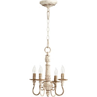 Quorum International Salento 4 Light Chandelier in Persian White 6006-4-70