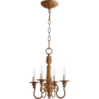 Quorum 6006-4-94 Salento 4 Light 13 inch French Umber Mini Chandelier Ceiling Light