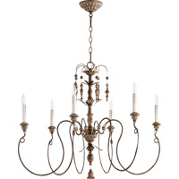 Quorum Salento 6 Light Chandelier in Vintage Copper 6006-6-39