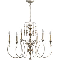Quorum 6006-6-70 Salento 6 Light 32 inch Persian White Chandelier Ceiling Light