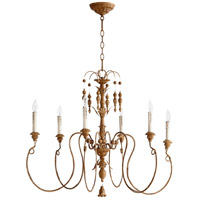 Salento 6 Light 32 inch French Umber Chandelier Ceiling Light