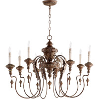 Quorum Salento 8 Light Chandelier in Vintage Copper 6006-8-39