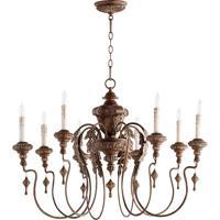 Quorum 6006-8-39 Salento 8 Light 38 inch Vintage Copper Chandelier Ceiling Light