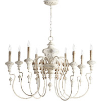 Quorum International Salento 8 Light Chandelier in Persian White 6006-8-70