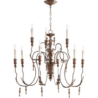 Quorum Salento 9 Light Chandelier in Vintage Copper 6006-9-39
