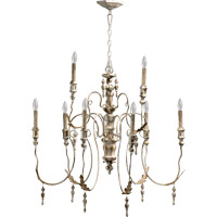 Quorum 6006-9-70 Salento 9 Light 32 inch Persian White Chandelier Ceiling Light