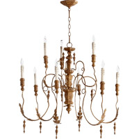 Quorum International Salento 9 Light Chandelier in French Umber 6006-9-94