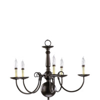 Signature 5 Light 23 inch Oiled Bronze Chandelier Ceiling Light