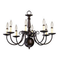 Quorum International Signature 8 Light Chandelier in Oiled Bronze 6007-8-86