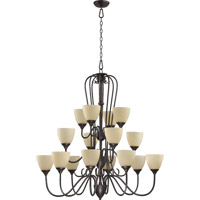 Quorum International Powell 16 Light Chandelier in Toasted Sienna 6008-16-44