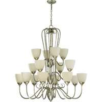 Quorum International Powell 16 Light Chandelier in Mystic Silver 6008-16-58