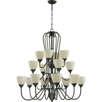 Quorum International Powell 16 Light Chandelier in Old World 6008-16-95