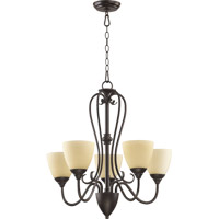 Powell 5 Light 25 inch Toasted Sienna Chandelier Ceiling Light