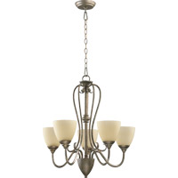 Powell 5 Light 25 inch Mystic Silver Chandelier Ceiling Light