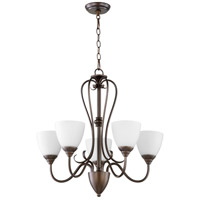 Quorum 6008-5-86 Powell 5 Light 25 inch Oiled Bronze Chandelier Ceiling Light