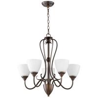 Quorum 6008-5-86 Powell 5 Light 25 inch Oiled Bronze Chandelier Ceiling Light
