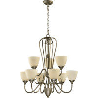 Powell 9 Light 29 inch Mystic Silver Chandelier Ceiling Light
