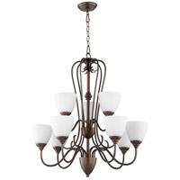 Quorum 6008-9-86 Powell 9 Light 29 inch Oiled Bronze Chandelier Ceiling Light