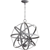 Quorum 6009-4-17 Celeste 4 Light 19 inch Zinc Chandelier Ceiling Light