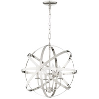 Quorum 6009-4-62 Celeste 19 inch Polished Nickel Chandelier Ceiling Light, Sphere