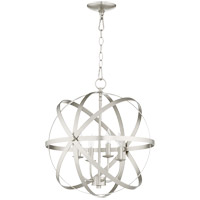 Celeste 19 inch Satin Nickel Chandelier Ceiling Light, Sphere