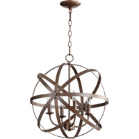 Quorum 6009-4-86 Celeste 4 Light 19 inch Oiled Bronze Chandelier Ceiling Light