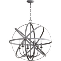 Quorum 6009-6-17 Celeste 6 Light 26 inch Zinc Chandelier Ceiling Light