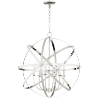 Quorum 6009-6-62 Celeste 26 inch Polished Nickel Chandelier Ceiling Light, Sphere
