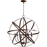 Quorum 6009-6-86 Celeste 6 Light 26 inch Oiled Bronze Chandelier Ceiling Light