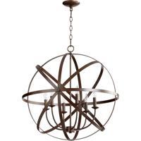 Quorum International Celeste 6 Light Chandelier in Oiled Bronze 6009-6-86