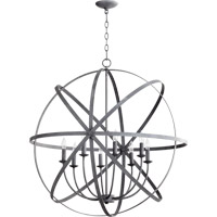 Quorum International Celeste 8 Light Chandelier in Zinc 6009-8-17
