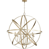 Quorum Celeste 8 Light Chandelier in Aged Silver Leaf 6009-8-60