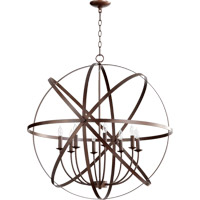 Celeste 8 Light 33 inch Oiled Bronze Chandelier Ceiling Light
