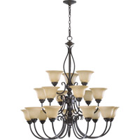 Quorum International Spencer 18 Light Chandelier in Toasted Sienna 6010-18-44