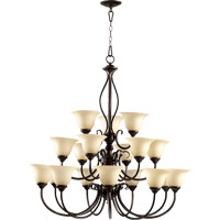 Quorum International Spencer 18 Light Chandelier in Oiled Bronze 6010-18-86