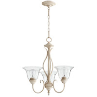 Quorum 6010-3-170 Spencer 20 inch Persian White Chandelier Ceiling Light in Clear Seeded, Clear Seeded