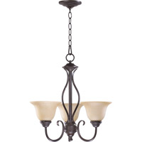 Quorum 6010-3-44 Spencer 3 Light 20 inch Toasted Sienna Chandelier Ceiling Light in Amber Scavo