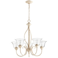 Quorum 6010-5-170 Spencer 25 inch Persian White Chandelier Ceiling Light in Clear Seeded, Clear Seeded
