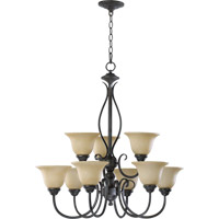 Quorum International Spencer 9 Light Chandelier in Toasted Sienna 6010-9-44