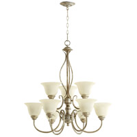 Spencer 9 Light 29 inch Mystic Silver Chandelier Ceiling Light in Amber Scavo