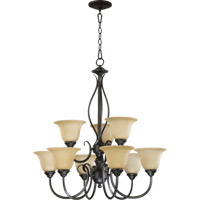 Quorum International Spencer 9 Light Chandelier in Old World 6010-9-95