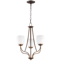 Willingham 17 inch Oiled Bronze Chandelier Ceiling Light in Satin Opal, Satin Opal